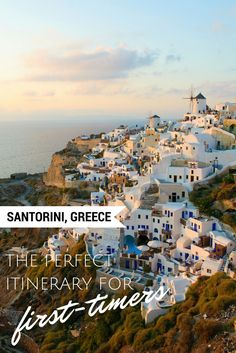 Greece - The Perfect Itinerary for First-timers The perfect itinerary for a trip to Santorini, Greece. This travel diary filled with ideas for any first-time visitor to the beautiful greek island.Beautiful Creatures Beautiful Creatures may refer to: Greece Honeymoon, Greece Vacation, Greece Travel, Vacation Spots, Greece Itinerary, Greece Trip, Greek Islands Vacation, Greece Tourism, Santorini Honeymoon