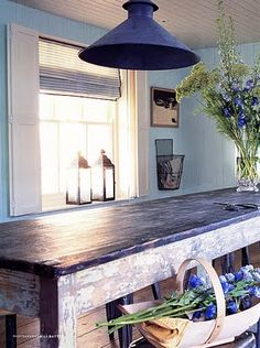 Old farmhouse table.