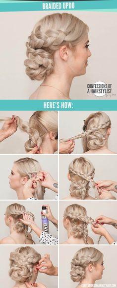 Criss-crossed Milkmaid Braid And Low Braid Bun