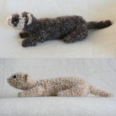 Crochet Fuzzy Ferret
