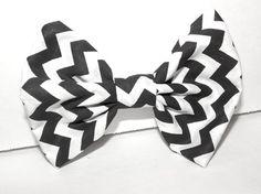 Chevron hair bow
