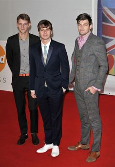 Foster the People at the Brit Awards in London, February 2012.  Lookin' sharp, fellas, lookin' sharp.