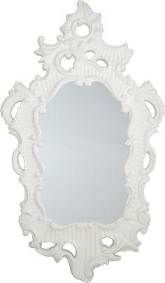White Lacquer Baroque Mirror
