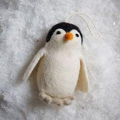 Felt Penguin Ornament #westelm