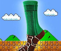 Level up your lackluster wardrobe with the Super Mario warp zone socks and experience a comfort softer than Lakitu's floating cloud. These fashionable socks...