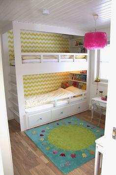 hvitstil.com: Plassbygd seng til jenterommet