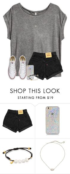 """let me love you.."" by arieannahicks ❤ liked on Polyvore featuring H&M, TOUS, Kendra Scott and Converse"