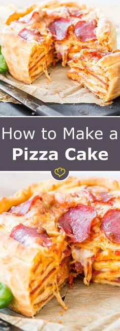 How to make a Pizza cake - recipe (How To Baking Bread)