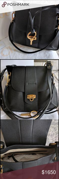 """NWT $1900 CHLOE LEXA SMALL BLACK - 100% AUTHENTIC Chloe Small """"Lexa"""" is the hottest bag of the season!  Can be worn crossbody w/ the adjustable strap or held by satchel handle. I was obsessed, I stalked and purchased the Lexa in two different sizes and colors. This bag was purchased at the Chloe boutique in South Coast Plaza for $1933.20. Preserved in mint condition w/ original stuffing, dustbag, & boutique bag. Carefully took photos to show details wo stretching the leather. Happy to…"""