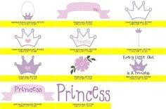 Princess Crowns Embroidery Machine Design Patterns