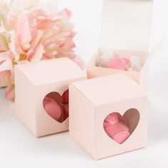 Heart Window Wedding Favor Boxes