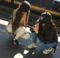 Imagen de adidas, girl, and grunge