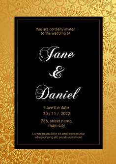 Customize this design with your video, photos and text. Easy to use online tools with thousands of stock photos, clipart and effects. Free downloads, great for printing and sharing online. A5. Tags: save the date invitation, weddding invites, Wedding , Wedding