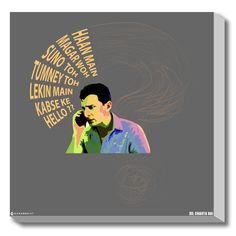 #GABAMBO. Dil Chahta Hai : Confused Saif. Stretched Canvas Art from DCH #Bollywood #Canvasart #DCH #Poster  available at www.gabambo.com