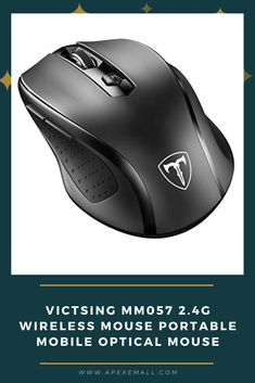 #VicTsing MM057 2.4G #Wireless Mouse Portable Mobile Optical Mouse with USB Receiver, 5 Adjustable DPI Levels, 6 Buttons for Notebook, PC, Laptop, Computer, Macbook – Black Price: $9.99 For purchase, Click on img.
