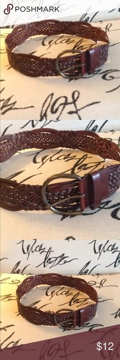 Super cute leather belt sz small I got this cute leather belt as a gift it's size small too small for me measures 37 inches with leather would be really cute with jeans or a skirt or address I love hippie BoHo and that's what this is Accessories Belts