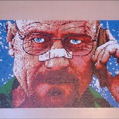 Walter White - Breaking Bad perler pixel portrait by mr.perler