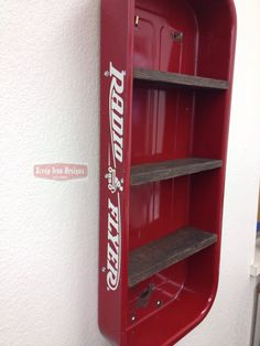 Radio Flyer Wagon Wall Shelf by ScrapIronDesigns on Etsy, $99.99