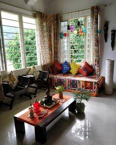 living room designs and styles – Waji – living room designs a… – Indian Living Rooms Indian Bedroom Decor, Ethnic Home Decor, Indian Home Decor, Home Decor Bedroom, Boho Decor, Living Room And Kitchen Design, Art Deco Living Room, My Living Room, Living Room Designs
