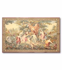 "Classic Santa Tapestry Panel Fabric Pillow Panel 18/"" L x 18/""H"