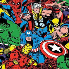 Avengers fabric https://www.etsy.com/listing/219161567/100-cotton-avengers-fabric-by-the-yard