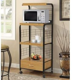 Looking for Metal 61 Kitchen Pantry Hazelwood Home ? Check out our picks for the Metal 61 Kitchen Pantry Hazelwood Home from the popular stores - all in one. Tall Kitchen Cabinets, Kitchen Pantry, Kitchen Cart, Kitchen Dining, Microwave Cabinet, Microwave Cart, Easy Home Decor, Home Decor Kitchen, Kitchen Ideas
