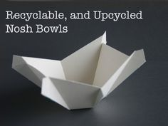 Recyclable, and Upcycled Bowls by Robert Magno, via Kickstarter.  Transform a single piece of flat cardboard into a bowl