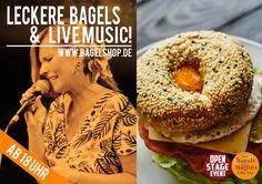 Lust auf coole #LiveMusic ? Ab in den #bagelshop.  Ab 18 Uhr gibts unsere #OpenStage im Fresh Bagels & Muffins. Viel Spaß :-)   www.bagelshop.de