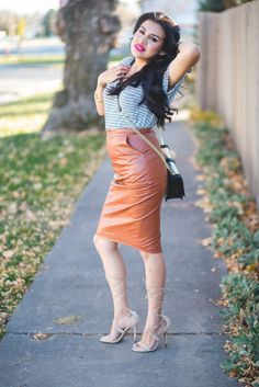 leather skirt outfit #casual #charlotterusse #christmasoutfit