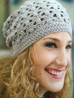 100 Little Crochet Gifts to Make - lady grey beanie