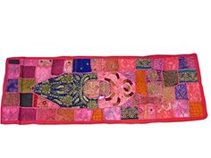 Indian Table Runner Handmade Vintage Patchwork Sari Wall Hanging 60 X 20 Mogul Interior http://www.amazon.com/dp/B00L8LBVPI/ref=cm_sw_r_pi_dp_uW4Qtb0607TV4J7N