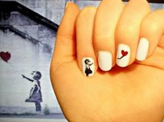 when nail imitates street art