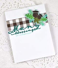 Many Birthday Blessings Card by Dawn McVey for Papertrey Ink (August 2015)
