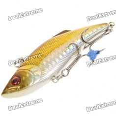 Color: Red + green + silver - Material: ABS - Full water depth - Fish style with 2 treble hooks - Built-in steel balls, attracts fishes with the sound - Great for fishing culter alburnus, elopichthys bambusa, mandarin fish, bass, tarpon, lateolabrax japonicus, etc. http://j.mp/1v34Iy4