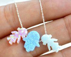 Two babies  shaped opal bracelet  2 baby girls2 by TURKISHNAZAR