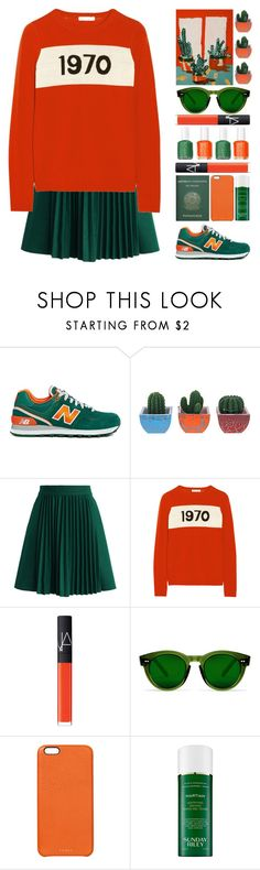 """""""Dana"""" by vandesousa ❤ liked on Polyvore featuring New Balance, Chicwish, Bella Freud, Essie, Passport, NARS Cosmetics, Chimi, Chaos and Sunday Riley"""