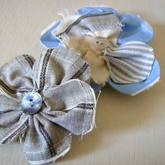 Fabric Flower Pin Brooch | Made By Hand Online