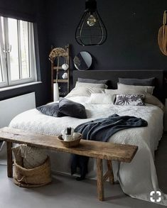 40 Masculine And Modern Man Bedroom Design Ideas is part of Men's bedroom design - It is a preconceived notion, that if you are a man, in your bedroom, your mattress is on the floor, […] Decor Room, Home Decor Bedroom, Bedroom Furniture, Bedroom Ideas, Bedroom Bed, Bed Ideas, Bedroom Inspo, Bench In Bedroom, Bedroom Inspiration Cozy