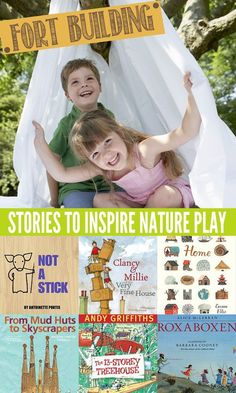 These great books are sure to inspire your children's outdoor play! In this case, to get fort building. Secret passwords will most definitely be required! Includes book suggestions for preschool, kindergarten and bigger kids.