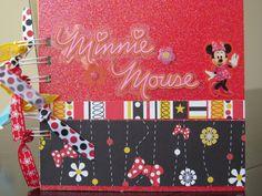 MInnie Mouse Scrapbook Mini Album, Party, Minnie Birthday, Brag Book, Disney via Etsy