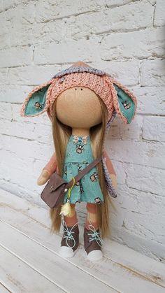 Cute fabric doll | Купить Мятная малышка - кукла снежка, кукла текстильная, кукла ручной работы, подарок девушке