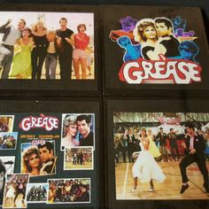 Grease Drink Coaster Set - A new addition to our TV & Movies Coaster Series.