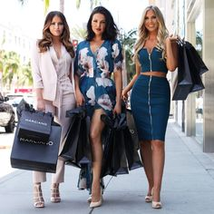 The luxe life: #WAGs stars walking down Rodeo Drive in #Marciano