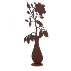 Saremo Edelrost Dekoelement Kerzenleuchter Rost Gartendeko