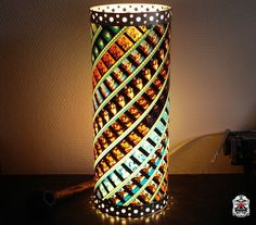 """Unique Handmade Lamp made of 35 mm Movie Film - 127 HOURS """"Hot as hell"""" / Houseware - Light - Cinema - Decoration - Upcycling gift - Nature"""