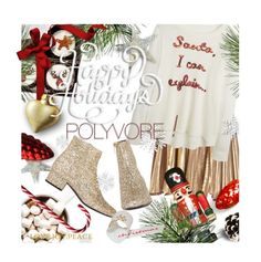 """""""HAPPY HOLIDAYS POLYVORE!!!!!"""" by pisces7 ❤ liked on Polyvore featuring A.L.C. and Yves Saint Laurent"""