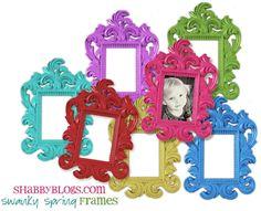 Shabby Blogs: Swanky Spring Frame Freebie