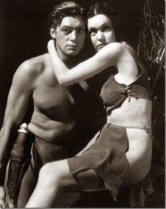 my favorite Tarzan, Johnny Weissmuller, an Olympian! and Maureen O'Sullivan as Jane, also known as Mia Farrow's mom.