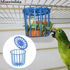 Pet Bird Parrot Feeder Cage Fruit Vegetable Holder Cage Hanging Basket New Hanging Bird Feeders, Stuffed Animal Storage, Bird Aviary, Cute Birds, Budgies, Hanging Baskets, Bird Cage, Dog Supplies, Pet Toys