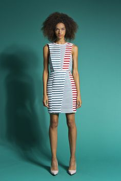 stripe mixing Brandon Sun Spring 2015 Ready-to-Wear - Collection - Gallery - Style.com
